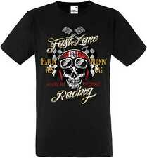 T Shirt Schwarz US Car Hot Rod Biker Chopper&Oldschoolmotiv Modell Fast Lane