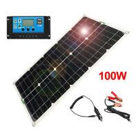 Solarpanel Solarmodul 100W 12V Solarzelle Set Wohnmobil Wohnwagen Garten Camping