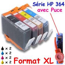 8 cartouches d'encre compatibles imprimantes PSC 5520 5525 7520 7525 : HP 364 XL