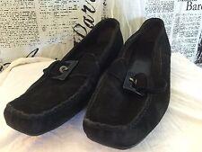 Stuart Weitzman Womens 9 M Black Suede Loafer Style Slip On 04518 Spain