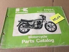 Kawasaki Parts list Z750 L1 catalogue liste pièce détachée Z KZ 750