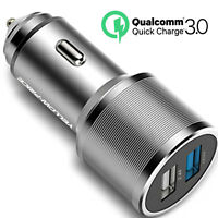 36W Quick Charge 3.0 Car Charger Dual Output USB Port for Samsung Galaxy S9 S8 +