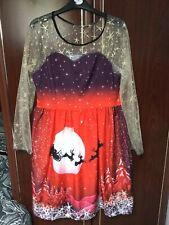 Ladies Christmas Dress Size XL 16-18