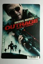OUTRAGE BORN IN TERROR MICHAEL MADSEN MINI POSTER BACKER CARD (NOT a movie )