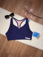 NWT Columbia Navy Blue Women's Medium Support Removable Cups Sports Bra Size M