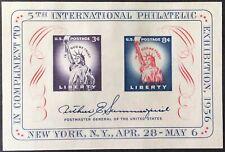 1956 FIPEX Souvenir Sheet, Scott #1075, MNG, VF