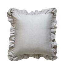 Solid Ruffle Bedding Set with Duvet Quilt Cover Pillowcase Twin/Full/Queen/King