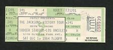 Michael Jackson 1984 The Jacksons Victory Tour Unused Concert Ticket Los Angeles