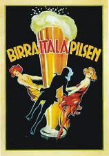 "TARGA VINTAGE ""BIRRA ITALA PILSEN"" PUBBLICITA', POSTER ADVERTISING, BAR PLATE"