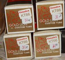 4 Boxed Gold Lion Genalex KT66 KT 66 Custom Tube Russia
