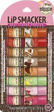 New - Lip Smacker Lip Balm 8 Count Party Pack Coffee, Tea and Lemonade Flavors