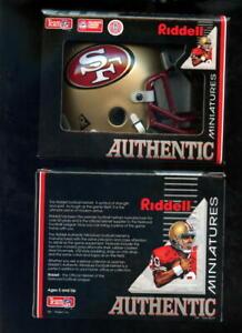 San Francisco 49ers Riddell MINI Football Helmet Authentic Minatures