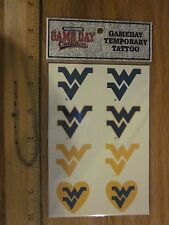 West Virginia Mountaineers Temporary Tattoo pack Free shipping!  Great gift!