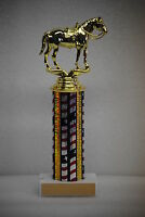 "10"" Cowboy Riding Horse w/saddle Trophy Award - Free engraving & Shipping"