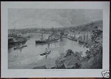 Orig 1886 AUS PRINT BRISBANE From Bowen Tce