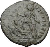 CONSTANTIUS II Constantine the Great son w labarum AE2 Ancient Roman Coin i32447