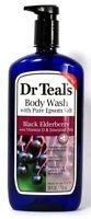 1 Bottle Dr Teal's 24 Oz Black Elderberry Vit D Body Wash With Pure Epsom Salt