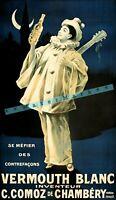 Vermouth Blanc 1800 French Liqueur Vintage Poster Print Retro Style Art Bar Art