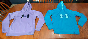 LOT Under Armour hoodie womans LARGE blue purple