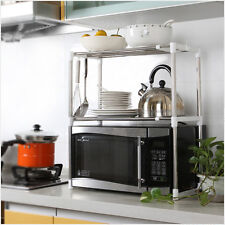 Universal Microwave Oven Stainless Steel Shelf Storage Rack Adjustable Durable G