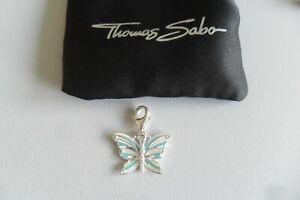 THOMAS SABO Charm-Anhänger - Schmetterling - Silber 1515-041-17, Neuwertig