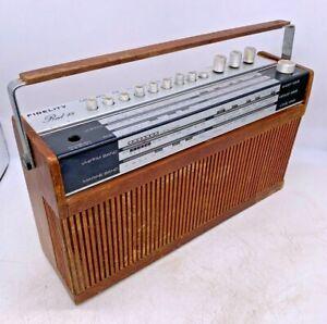 Vintage Fidelity Radio 18 Portable Rare Radio 1960s