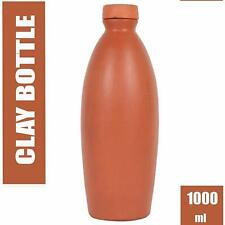 Organic Clay Crafts Clay Water Bottle, 1000 ML, Brown (Delivery Free)