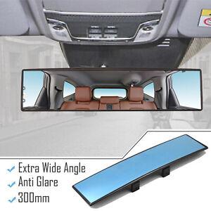 Large Vision Interior Mirror Car Rear View Wide Angle Convex Anti Glare Blue