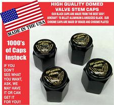 Billet Trans Am TransAm Formula Firebird Gold/Black Valve Stem Caps  Unique