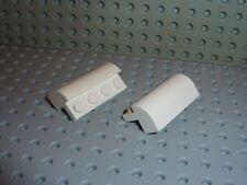 2 LEGO white Brick Curved Top ref 6081 / Set 10212 7264 7166 4999 6419 7659 6597