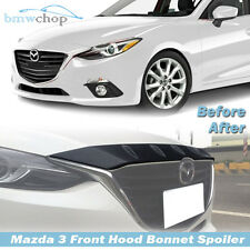 STOCK IN USA ▶ Embossed Surface Front Hood Bonnet Fin Cover For Mazda 3 Maxx 3rd