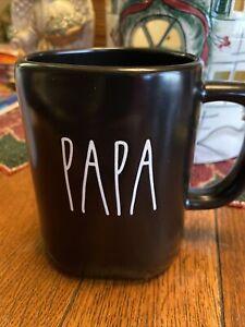 """Rae Dunn """"PAPA """" Black Coffee Mug. New w Tag  2020"""