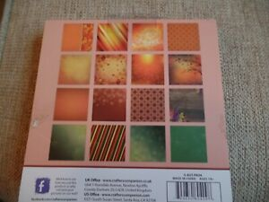 """6"""" square pad Autumn backing card / topperst missing the. 3 each of 16 designs."""