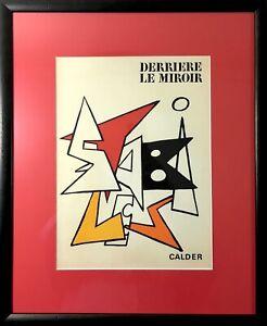 CALDER: Original Derriere Le Miroir Lithograph 1963 1st Ed DLM #141 Stabiles