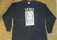 VOID longsleeve black t shirt condensed flesh dischord Washington DC punk
