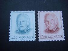 MONACO 1991 Prince Rainier 2 Values 2.20F 7 2.50F SG 1912 & 1916 MNH Cat £3.40