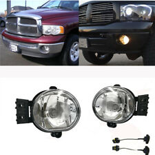 For Dodge 2002-2008 Ram 1500 2500 /2004-2006 Durango Fog Lights Bulb Clear Lens