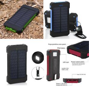POWERNEWS Waterproof 3000000mAh Portable Solar Charger 2 USB Battery Power Bank