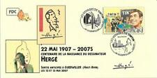 FRANCE 2007 FDC carte TINTIN Kuifje Tim HERGE cachet GUEBWILLER Haut-Rhin Remy