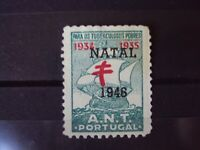 PORTUGAL 19304-35 A.N.T.  SURCHARGED NATAL 1946 (2)CINDERELLA STAMP