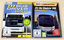2 PC SPIELE SAMMLUNG - CITY BUS SIMULATOR 2010 GOLD & BUS DRIVER GOLD