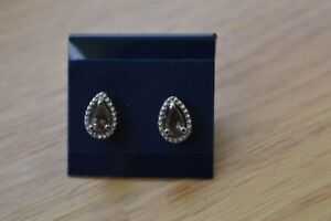1.00ct Color Change Garnet Solitaire Earrings Platinum over Fine Silver