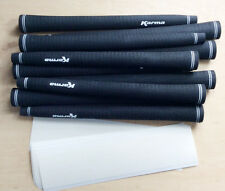 "13 Grip Tapes + 13 Karma Black Velvet JUMBO / OVERSIZE +1/16"" Golf Grips"