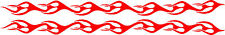 """Flame Stripes Vinyl Car Decals for Motorcycle Flames (2 - 42"""" x 3"""") Stickers"""