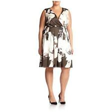 Lafayette 148 NY Junette Floral Printed Blk/Whi Dress Women's Plus 16W $698 NWT