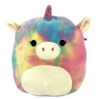 """Squishmallow Kellytoy Unicorn Plush 8"""" Rainbow Tie Dye Super Soft Toy Pillow"""