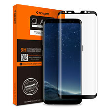 Spigen SGP Galaxy S8 PLUS 3D Curved Edge Tempered Glass Case Friendly 571GL2177