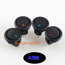 20x 12V LED beleuchtet Auto Kippschalter Rund Wippschalter Ein/Aus Schalter L2s