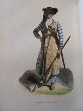 COSTUME OCEANIE / Javanais en costume de guerre 1847 rehaussée de couleurs