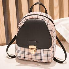 Women Small Backpack Bag Girl Plaid Shoulder Handbag Travel Phone Purse Mini Bag